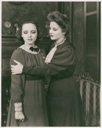 Eugenia Rawls and Tallulah Bankhead in a scene from The Little Foxes, opened Feb 15, 1939. Its fifth Broadway production opens April 19, 2017