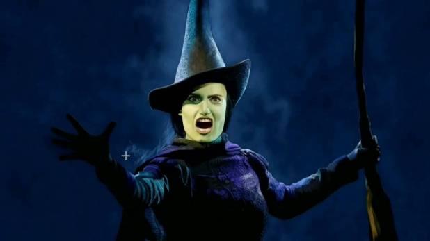 Menzel as Elphaba in Wicked