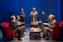 Henny Russel (center) with Daniel Jenkins, Dariush Kashani, Jefferson Mays, Daniel Oreskes, and Anthony Azizi