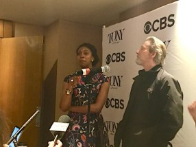 """Condola Rashad, Chris Cooper, A Doll's House, Part 2. Asked when she knew she wanted to be an actress, she told the story of sneaking out on stage during a long blackout in one of her mother Phylicia Rashad's plays. """"They couldn't see me, but I could see them."""""""