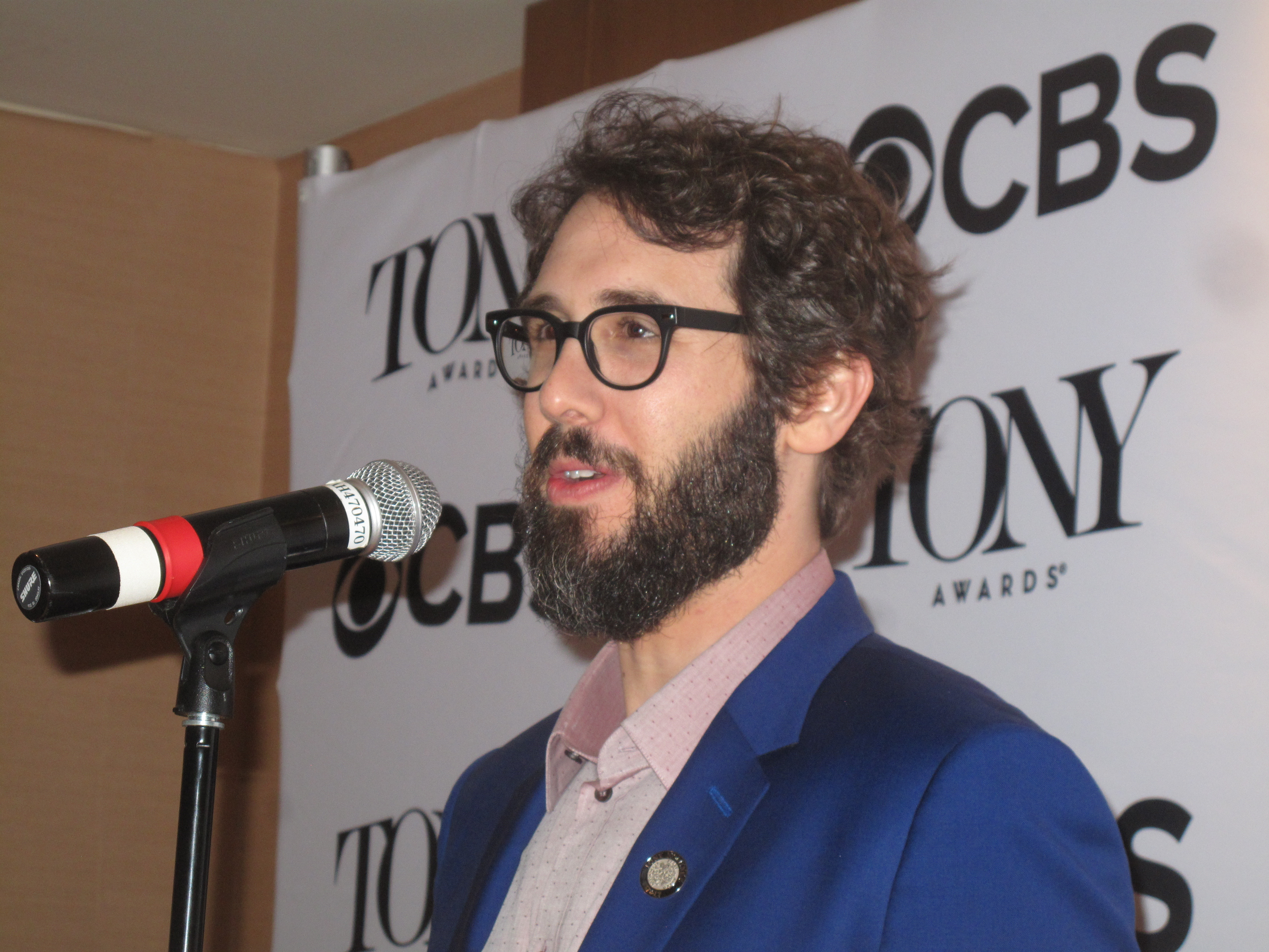 Josh Groban, Natasha, Pierre and the Great Comet of 1812, best actor in a leading role. See video below.
