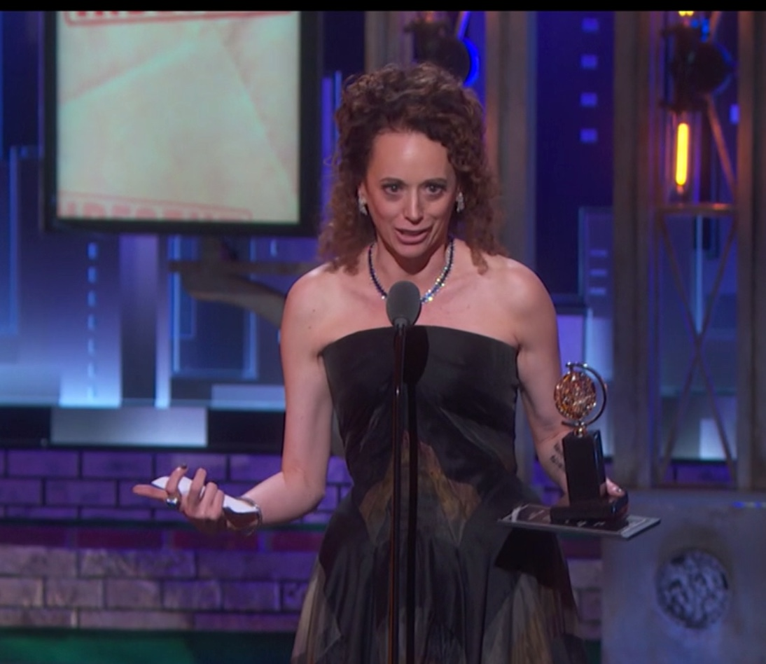 Rebecca Taichman accepting her award as best director of a play for Indecent