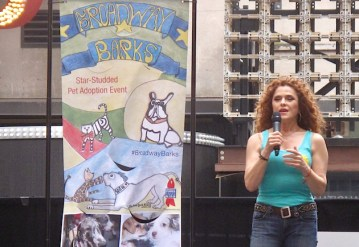 Broadway Barks co-founder Bernadette Peters