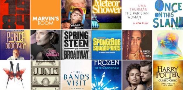 Broadway 2017 2018 season logos
