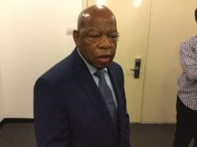 """Congressman John Lewis, on his way to see """"Freedom Riders"""""""