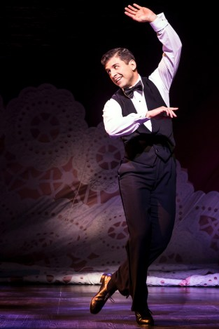 """Tony Yazbeck tap danced his way spectacularly through """"The Right Girl"""" from Follies (which we're told is Prince's favorite musical. Opened in August."""