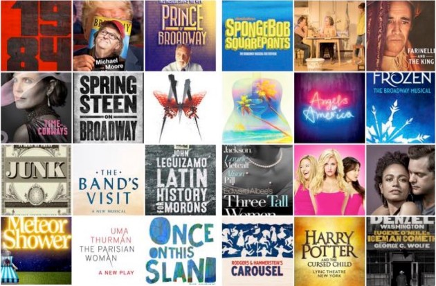Broadway logos 2017 2018 updated