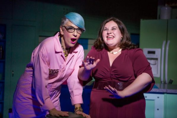 Lisa Lampanelli and Lauren Ann Brickman in STUFFED - photo by Jeremy Daniel