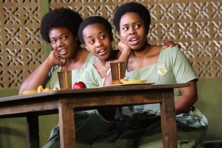 Abena Mensah-Bonsu, Mirirai Sithole and PaigeGilbert in School Girls