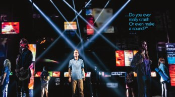 Evan Hansen spread of scenic design