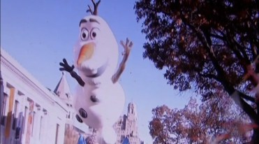 Olaf the balloon from Frozen