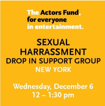 Actors Fund support group announcement
