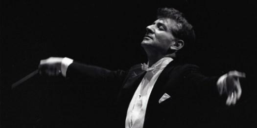 Leonard Bernstein conducting