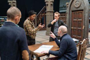Actors Noma Dumezweni and Jamie Parker in conversation with John Tiffany