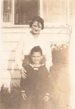 Arthur Miller and his mother Augusta Miller], ca. 1920.