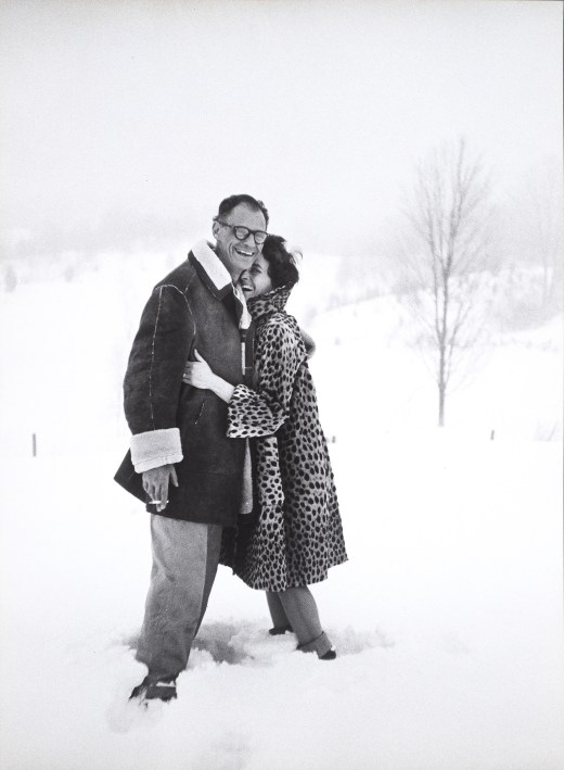 thur Miller and photographer Inge Morath on the day of their wedding.], 1962