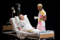 Nathan Lane as the nasty dying Roy Cohn and Nathan Stewart-Jarrett as his nurse, a black gay ex drag queen.