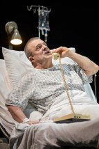 Nathan Lane as Roy Cohn still angling and berating from his death bed in Angels in America: Perestroika