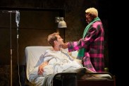 Andrew Garfield as Prior and Nathan Stewart-Jarrett as his former lover and current caretaker.