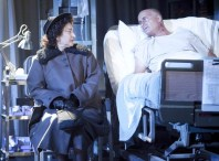 Robin Bartlett as Ethel Rosenberg and Frank Wood as Roy Cohn in Angels in America. at the Signature, 2010