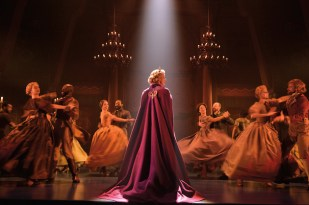 Frozen 2 Caissie Levy (Elsa) and the Company of FROZEN on Broadway - Waltz. Photo by Deen van Meer