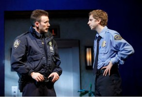 Chris Evans and Michael Cera in Lobby Hero, at the Helen Hayes