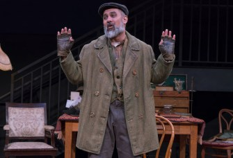 Rajesh Bose as Alfred P.Doolittle in Bedlam's Pygmalion