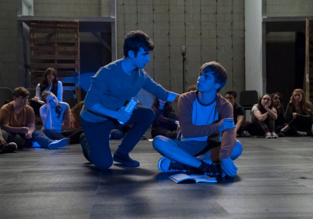 """RISE -- """"Most of All to Dream"""" Episode 102 -- Pictured: (l-r) Ted Sutherland as Simon Saunders, Sean Grandillo as Jeremy -- (Photo by: Virginia Sherwood/NBC)"""