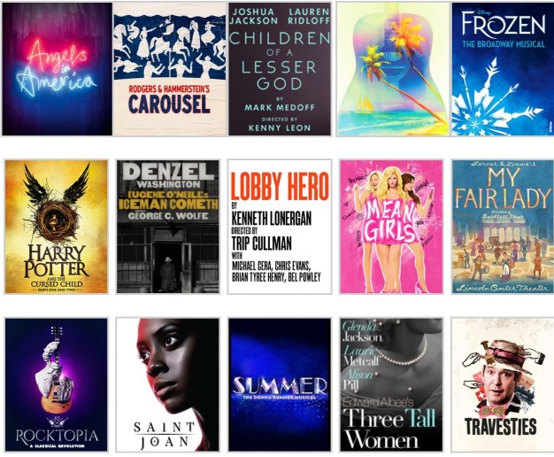 Broadway logos March & April 2018