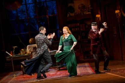 """Harry Hadden-Paton, Lauren Ambrose, and Allan Corduner in """"The Rain in Spain"""""""