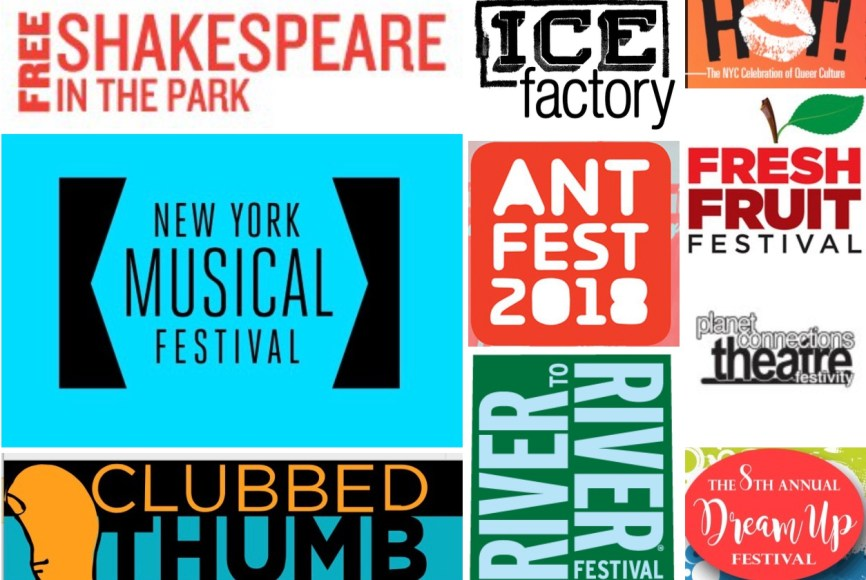 2018 Summer theater festivlas logos collage