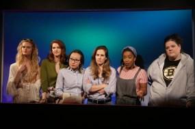 On a pregnancy message board: Erica Lutz, Kelly Anne Burns, Susan Hyon, Laura Ramadel, Kristen Adele, and Kelli-Lynn Harrison in Bump