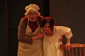 Bump 5. Jenny O'Hara and Lucy DeVito in Ensemble Studio Theatre's production of BUMP - Photo by Gerry Goodstein