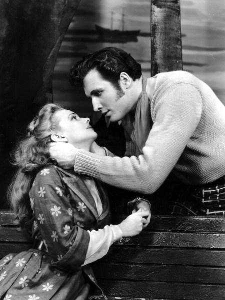 Carousel (1945 - 1947 Broadway) Music by Richard Rodgers; Book and Lyrics by Oscar Hammerstein II Directed by Rouben Mamoulian Shown from left: Jan Clayton, John Raitt