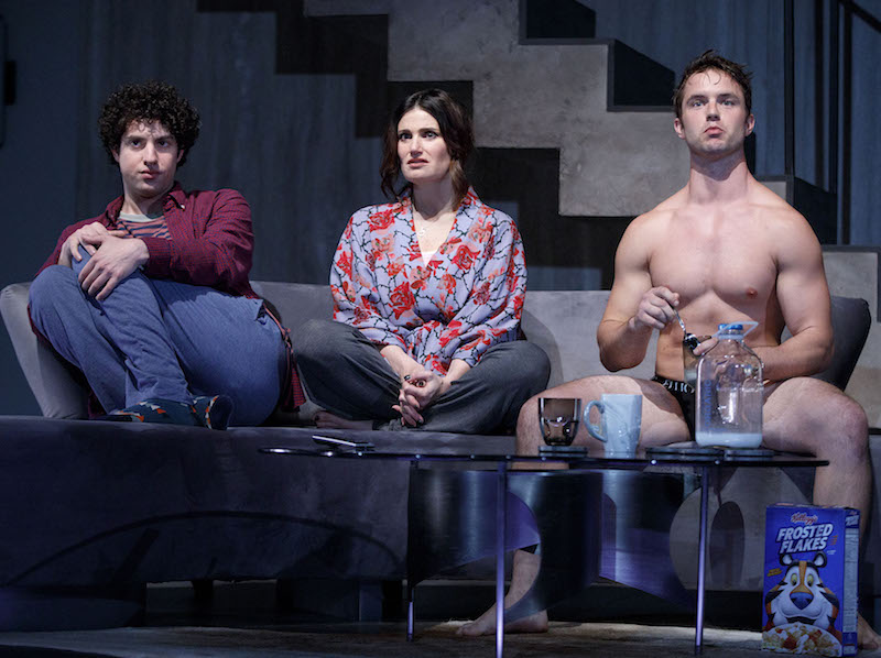 Eli Gelb, Idina Menzel and Will Brittain in Skintight at Laura Tells Theatre