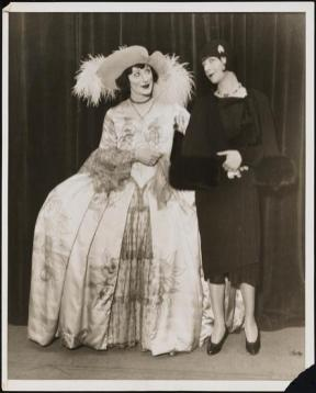 "Fanny Brice and Albert Carroll (as Fanny Brice) in ""Grand Street Follies"" 1929"