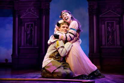 Andrew Durand as Musidorus and Alexandra Socha as Philoclea