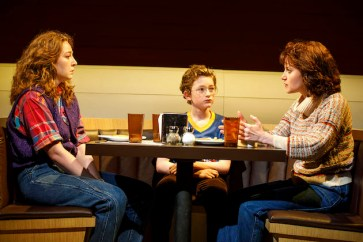 Mary Page Marlowe at 40. Kayli Carter and Ryan Foust as Mary Page's children listen to Susan Pourfar as Mary Page Marlowe explain how she's divorcing their father and moving them to Kentucky