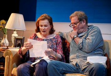 Mary Page Marlowe at 63. Blair Brown as Mary Page with Brian Kerwin as her third husband, sharing good news for a change.