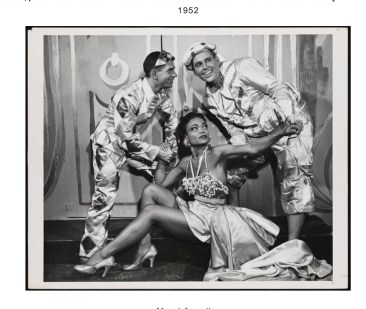 """Leonard Sillman's New Faces of 1952"" Eartha Kitt (center), Paul Lynde (right)"