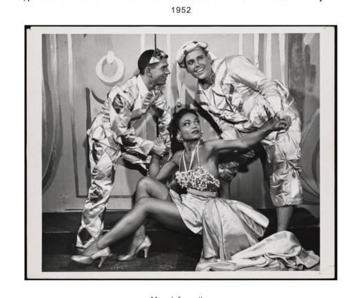 """Leonard Sillman's New Faces of 1952"" Eartha Kitt (center), Paul Lynde (right)"