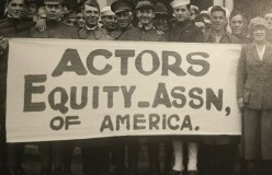 Members of Actors Equity march during 1919 strike