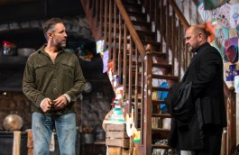Paddy Considine (Quinn Carney) and Charles Dale (Father Horrigan)