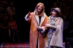 Christine Lahti as Gloria Steinem and Joanna Glushak as Bella Abzug