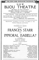 Immoral Isabella program page