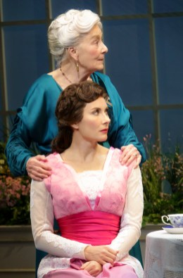Rosemary Harris as Mrs. Higgins and Laura Benanti as Eliza