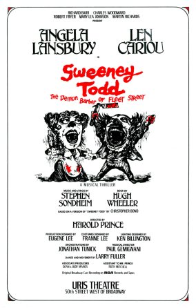 """The advertising agency entertained almost 100 concepts for the poster for this Sondheim musical before settling on Fraver's, based on an old woodcut. Sondheim's final suggestion: """"Add more blood."""""""
