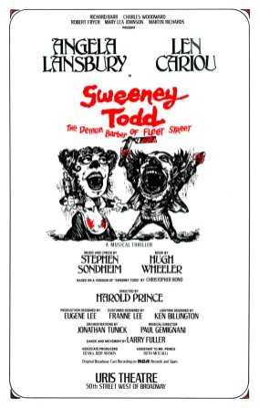 "The advertising agency entertained almost 100 concepts for the poster for this Sondheim musical before settling on Fraver's, based on an old woodcut. Sondheim's final suggestion: ""Add more blood."""