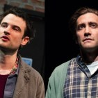 Tom Sturridge and Jake Gyllenhaal, who appear separately to deliver monologues in Sea Wall/A Life