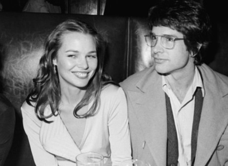 Musician Michelle Phillips and actor Warren Beatty attend the opening night party for 'Man in the Moon' at Sardi's